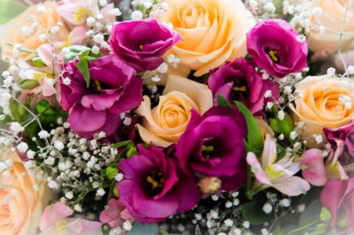 Flores decoração Bancos da Igreja